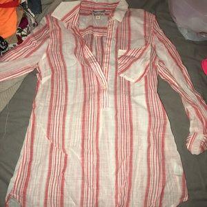 Half button down blouse